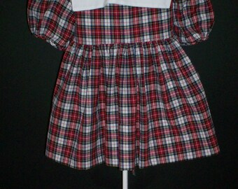 Red Plaid Dress  Size Toddler 2