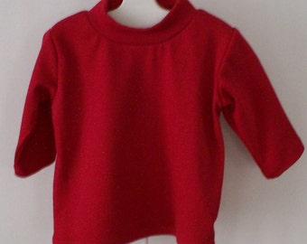 Red Turtleneck Pullover Shirt - Sizes 9 Mos and 12 Mos