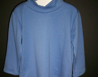 Periwinkle Blue Turtleneck Shirt - Sz 12 Mos and T 2
