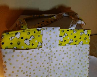 Snoopy and the Golden Polka Dot Tablet Bag