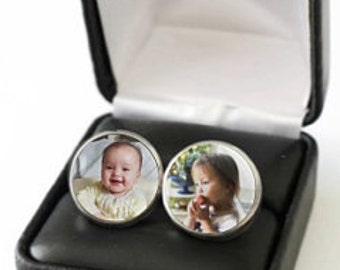 First Fathers Day Gift from Wife, Fathers Day Gift from Baby Girl, Gift for Dad Daughter, Fathers Day Gift from Daughter, Father Cufflinks