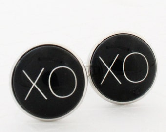 XOXO Boyfriend Gift, Boyfriend Cufflinks, Husband Cufflinks, 1st Anniversary Gift For Husband, Steel Anniversary Gift for Him, Valentine Day