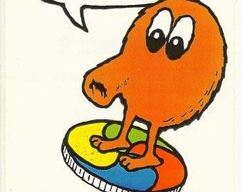 Vintage 80's Q-bert Arcade Game Sticker