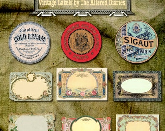 Antique French Jar Labels Canning Labels Printable Canning Etsy