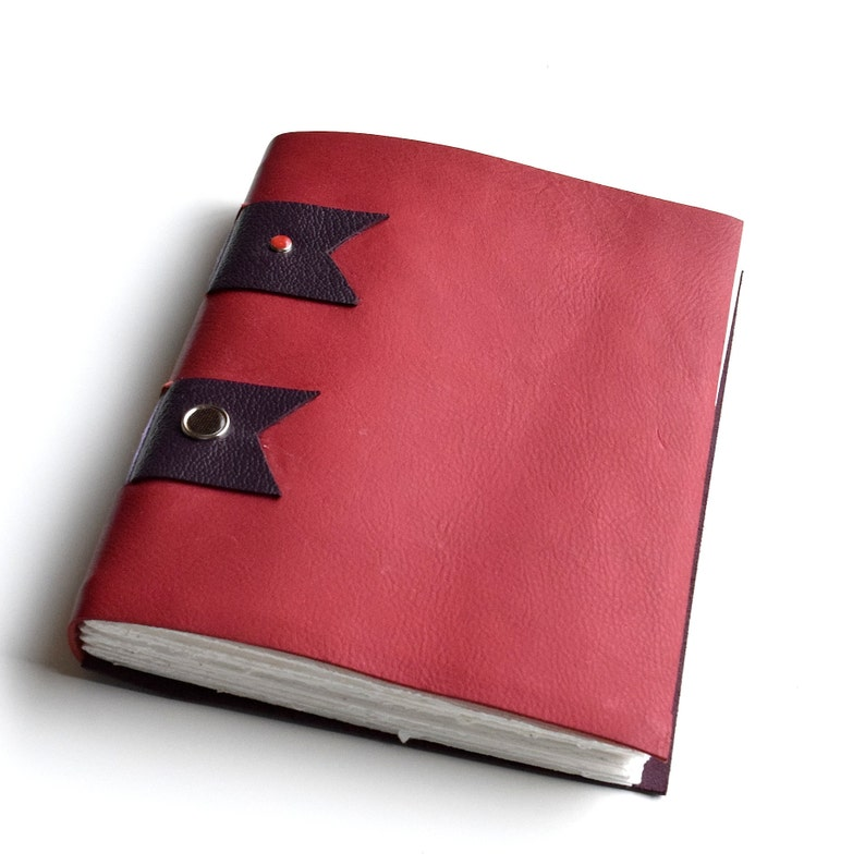 Marked Down Red and brown Cross Structure Sketchbook