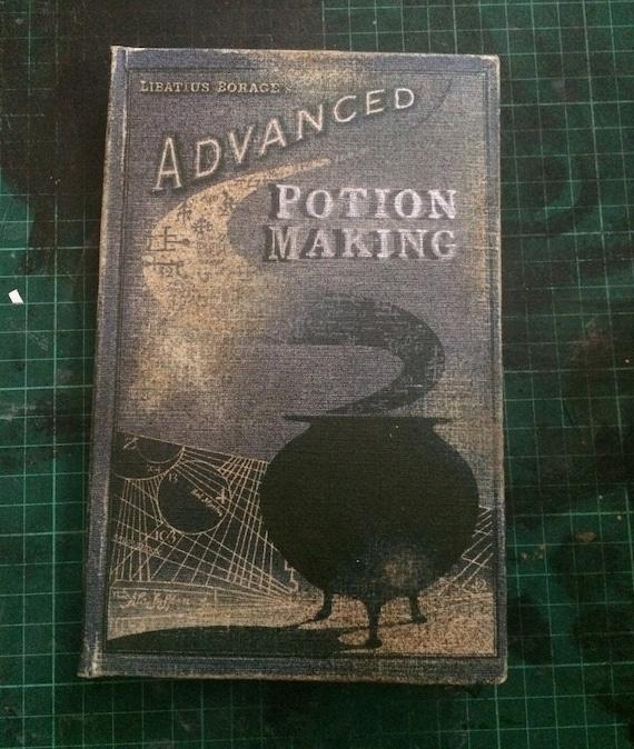 photograph regarding Advanced Potion Making Printable titled Innovative Potion Producing Reserve - Selfmade, Handbound, Blank Sketchbook Duplicate