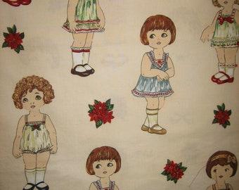 Vintage Sailor Fabric  Paper Doll Sailor Fabric  Sixties Fabric  Seventies Fabric  Nautical Fabric  Color Pop Fabric