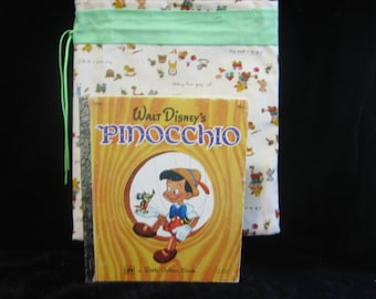 Pinocchio Little Golden book and bookbag