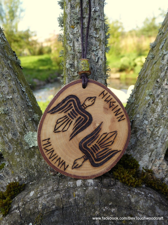 Odin/'s Ravens Huginn and Muninn Viking Decor Wall Hanging Asatru Art Pagan Decor