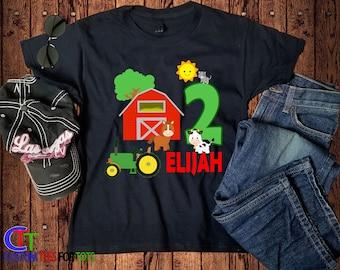 bb9b896a Green Tractor Birthday Shirt - Tractor Birthday Black Shirt - Personalized  Birthday shirt - Farm Birthday Shirt Birthday Party Shirt
