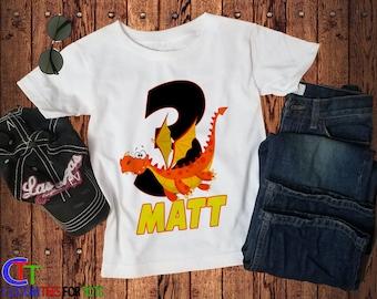 0da9fb5df Boys Dragon Shirt - Personalized Dragon Birthday Shirt - dragon Birthday  Shirt - Girl birthday shirt,boys birthday shirt,kids dragon shirt