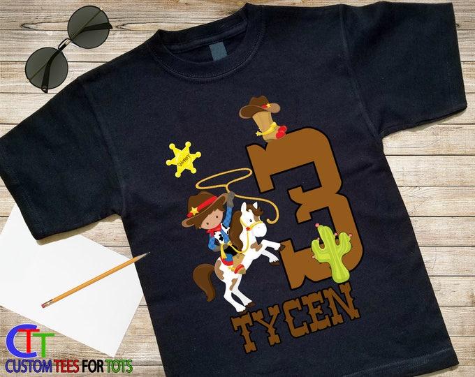 BOY Wild West Birthday Shirt