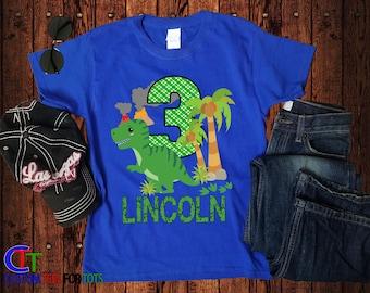 dd38e3890 Dinosaur Birthday Shirt - Boys Dino Birthday Shirt for Girl, Personalized  Birthday shirt, Green Dino Birthday Shirt - Custom Birthday Shirt