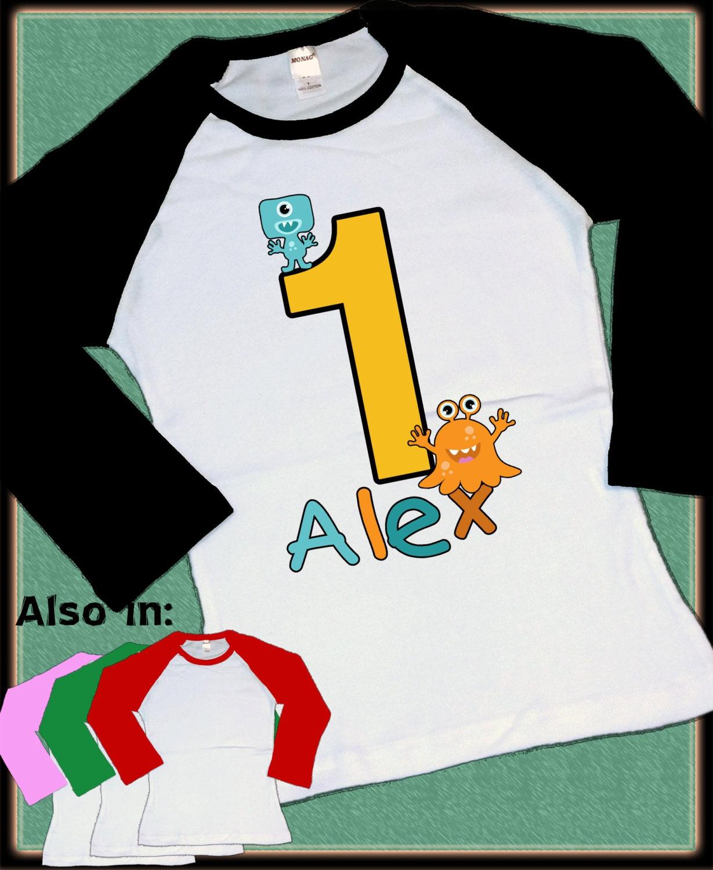 Little Monster Birthday Shirt