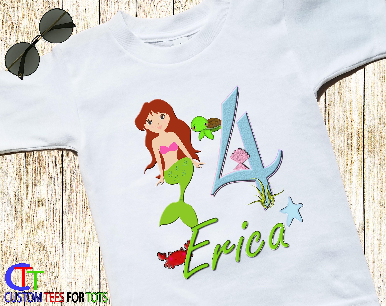 Girls Mermaid Birthday Shirt