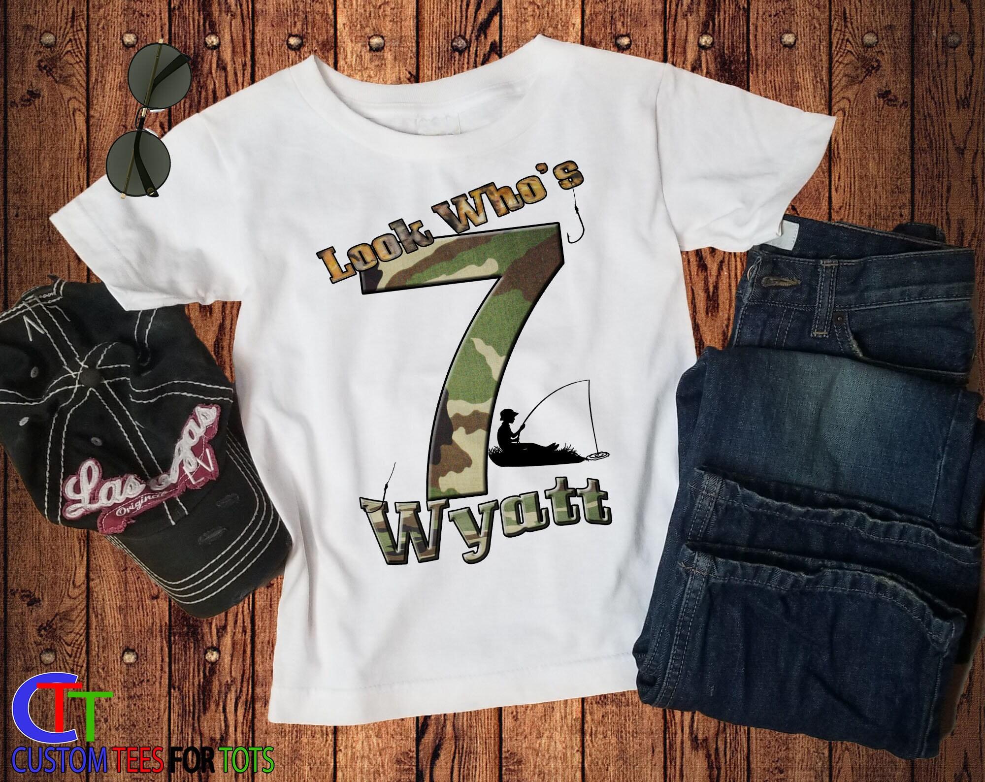 75bad2b4 Camo Fisherman Birthday shirt - Personalized Fishing Birthday Shirt ...