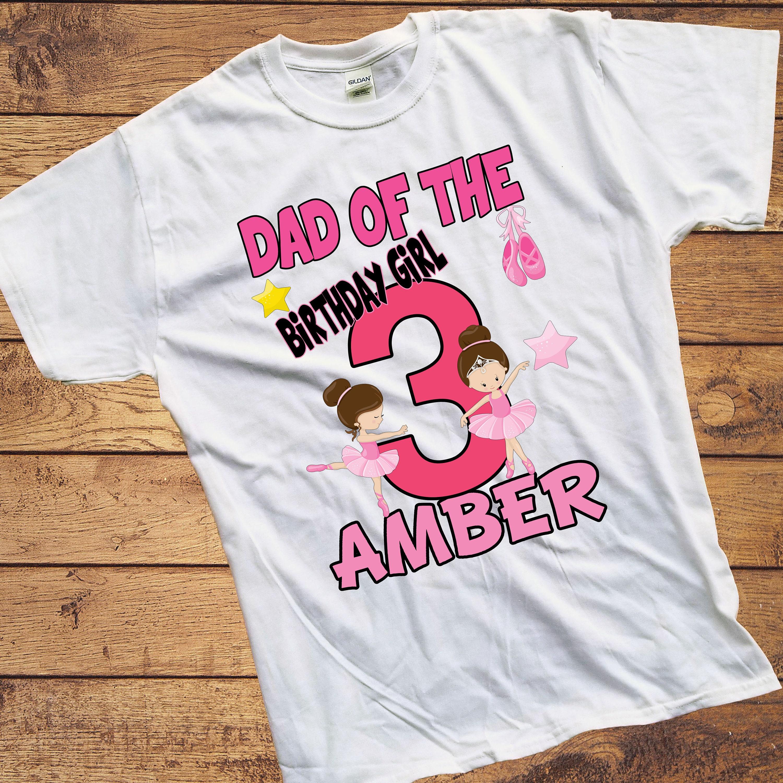b98735859ed7 Birthday Girl - Adult Ballerina Birthday Shirt - Dancer Shirt - Ballerina  ...