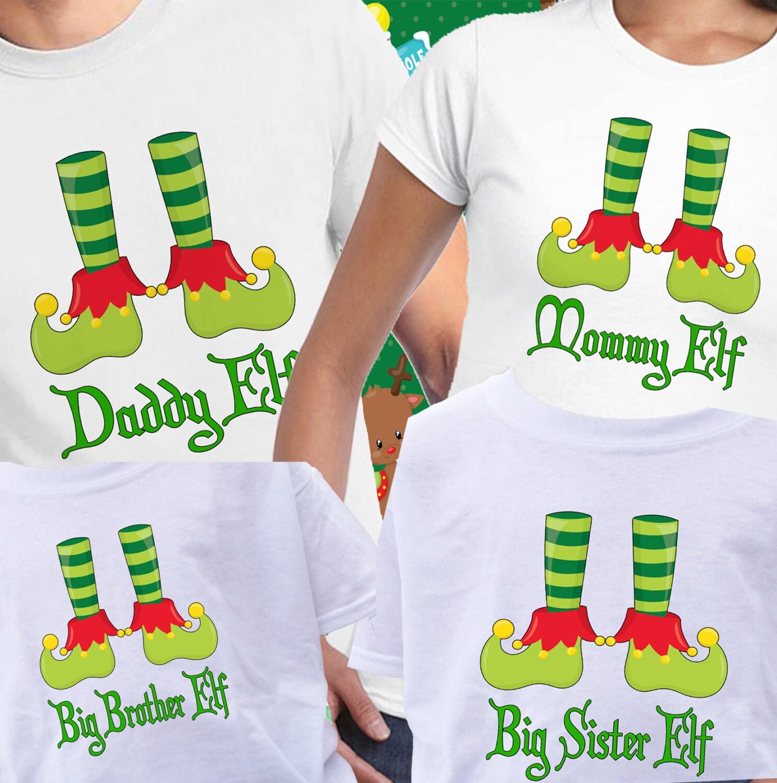 set of 4 christmas elf shirts elf feet shirt christmas shirts family christmas shirts christmas pj shirt family christmas shirt