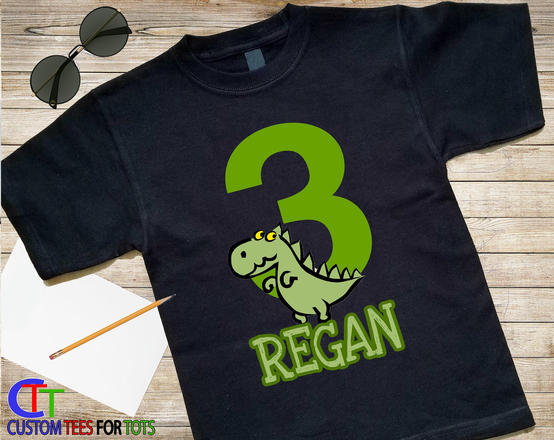 First Birthday Shirt Boy Dinosaur