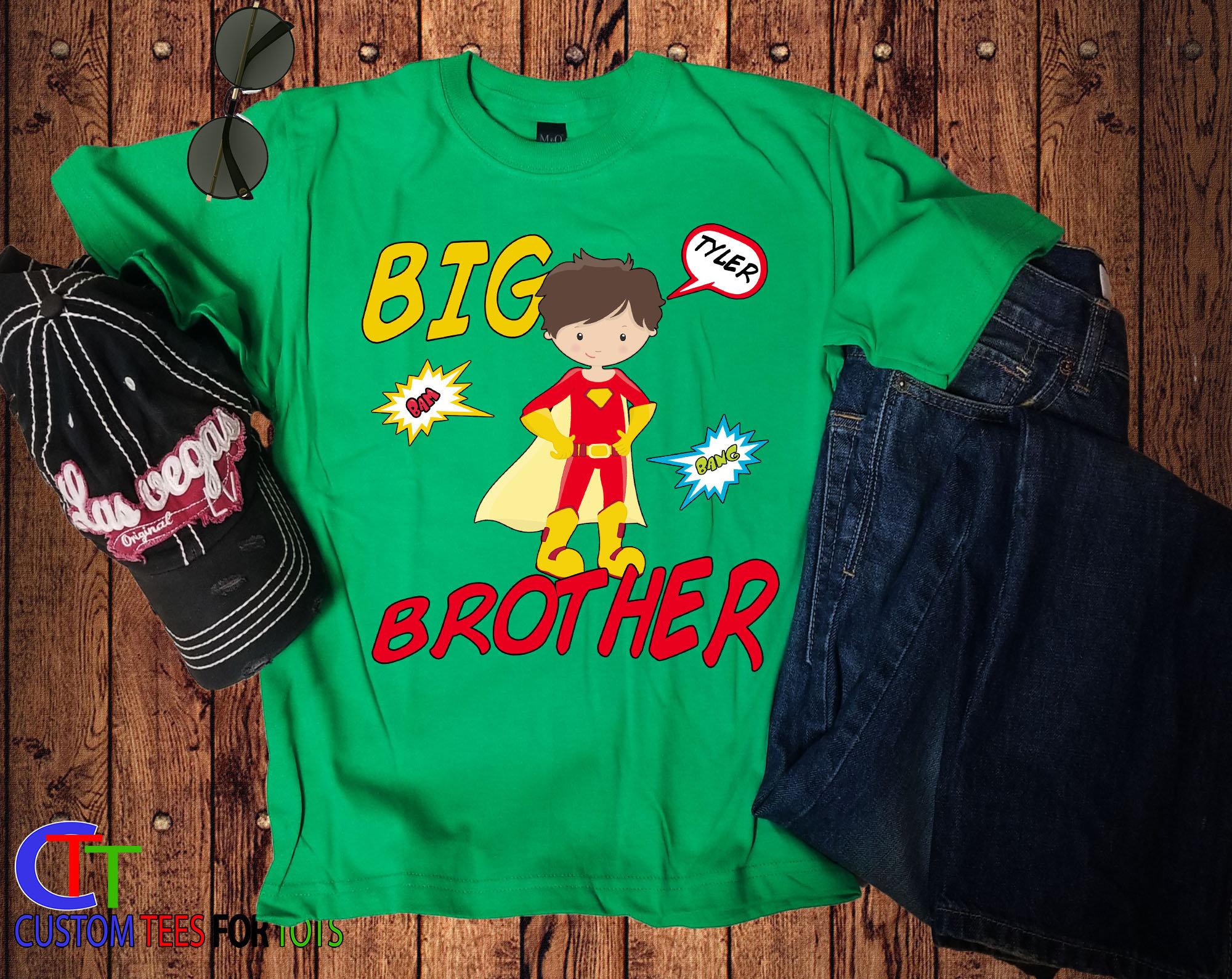 f59c47f8 Boys Superhero Shirt - Big Brother Superhero Shirt - Personalized Superhero  Shirt - Big Brother Announcement Shirt - Sibling Shirt