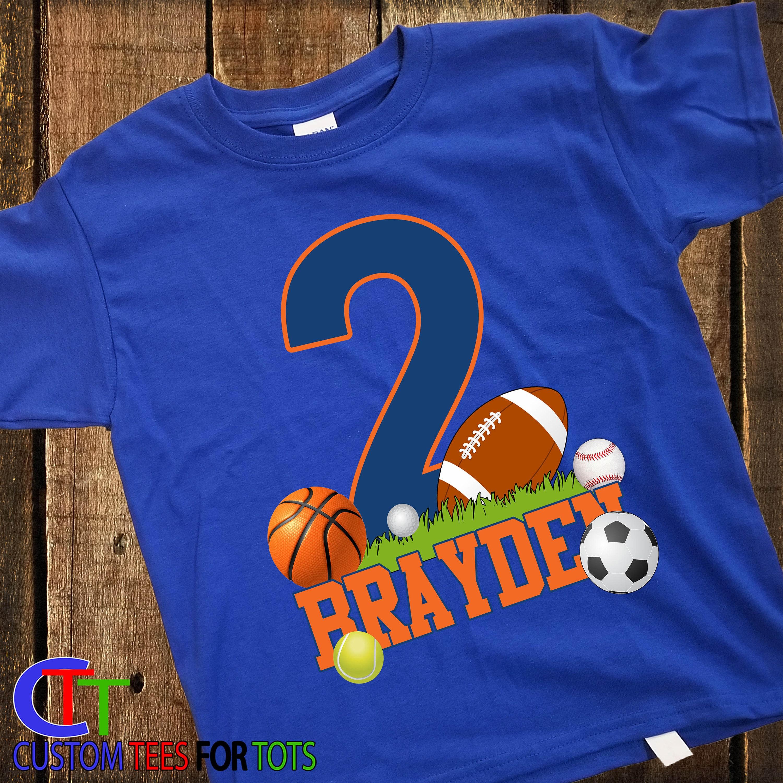 a20a7c7b8 Boy or Girl FOOTBALL Birthday shirt - Sports Birthday Shirt - personalized  Sports Birthday Shirt 1