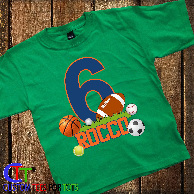 6f3d4b122 Boy or Girl FOOTBALL Birthday shirt - Sports Birthday Shirt ...