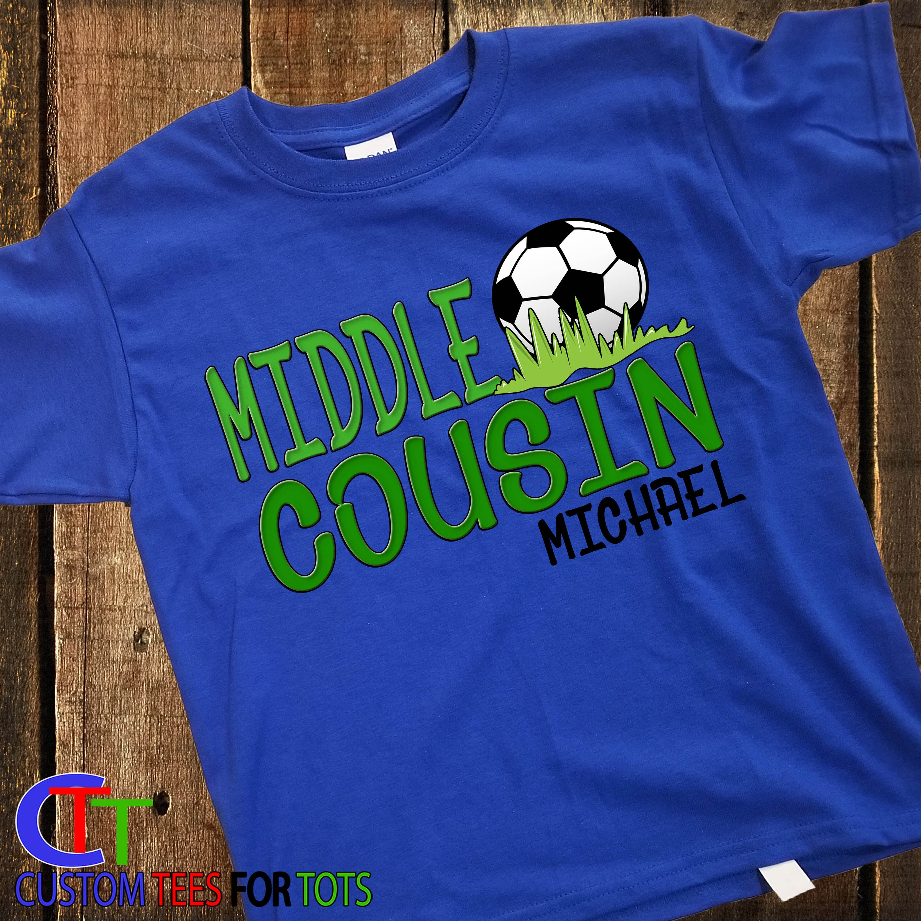 c678e2c1e ... Cousin Soccer Shirt- soccer shirt - Soccer Personalized Shirt sibling -  boy or girl. gallery photo ...