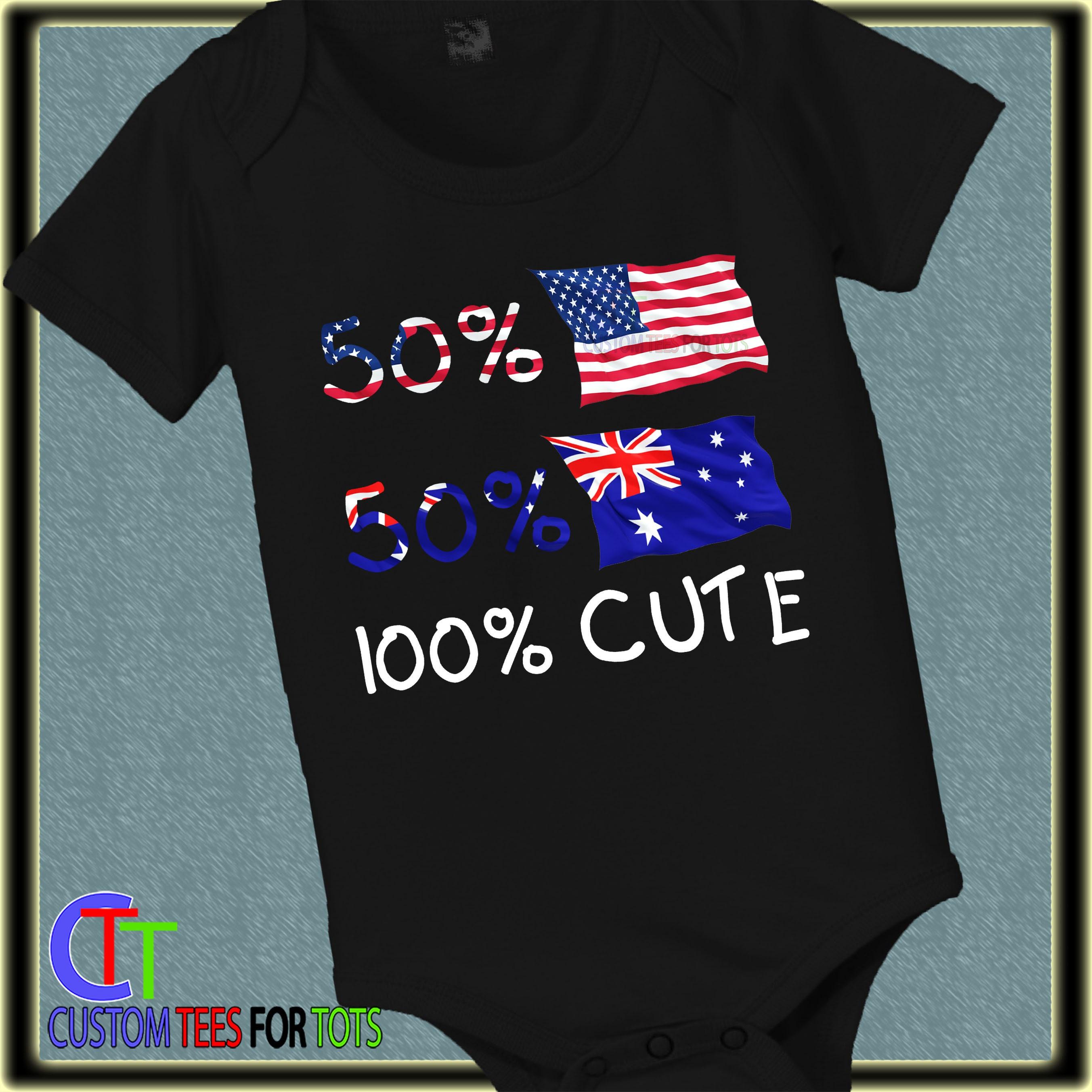 ff746baad 50 USA 50 Australian Bodysuit - Baby Bodysuit - Nationality Bodysuit ...