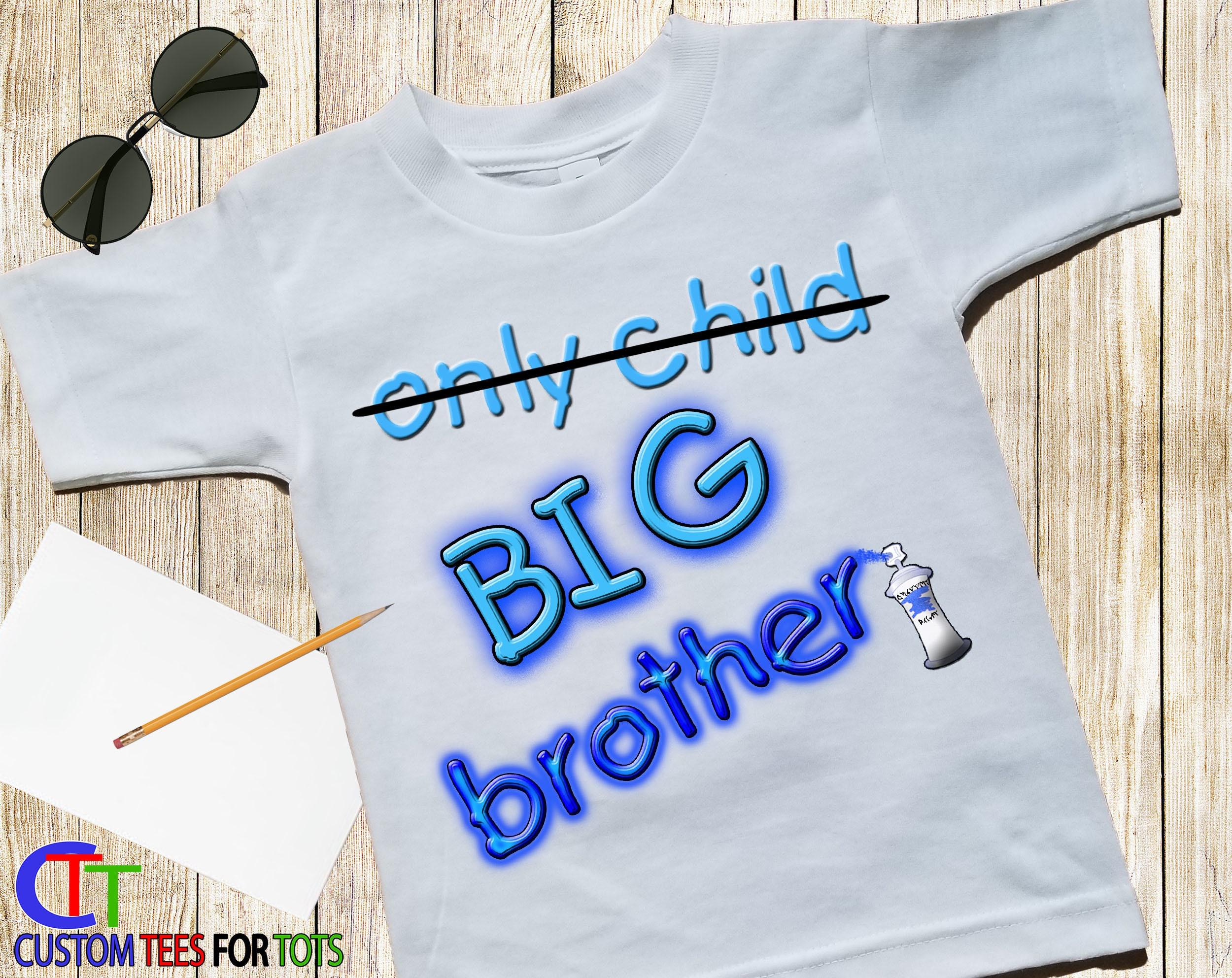 Big Brother Shirt Only Child Big Brother Graffiti Shirt Spray