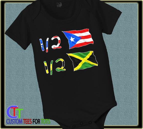TooLoud Jamaica Flag Baby Romper Bodysuit