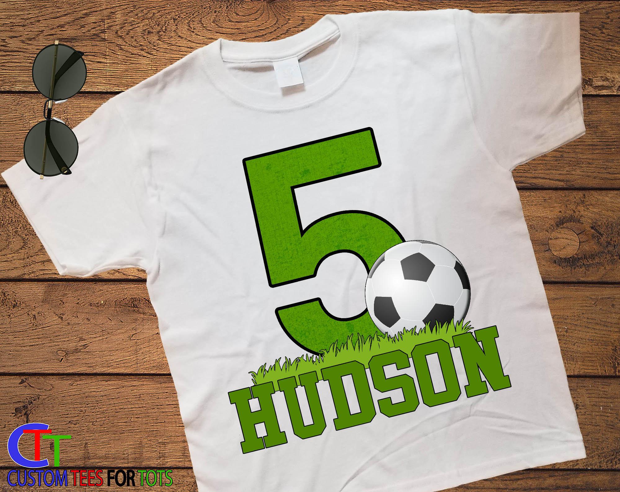 Big Number SOCCER Birthday Shirt