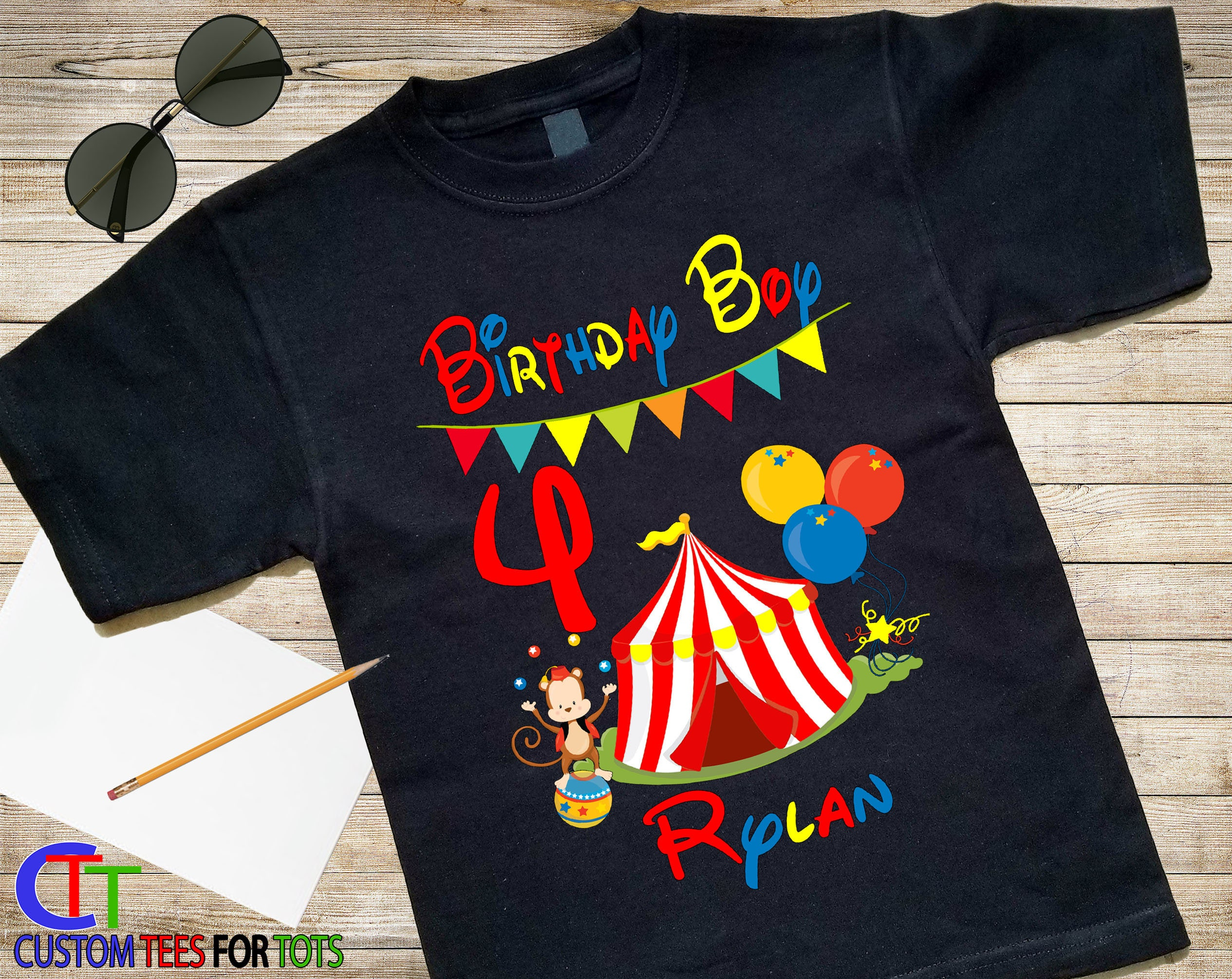 Custom Birthday Party Shirt Gallery Photo