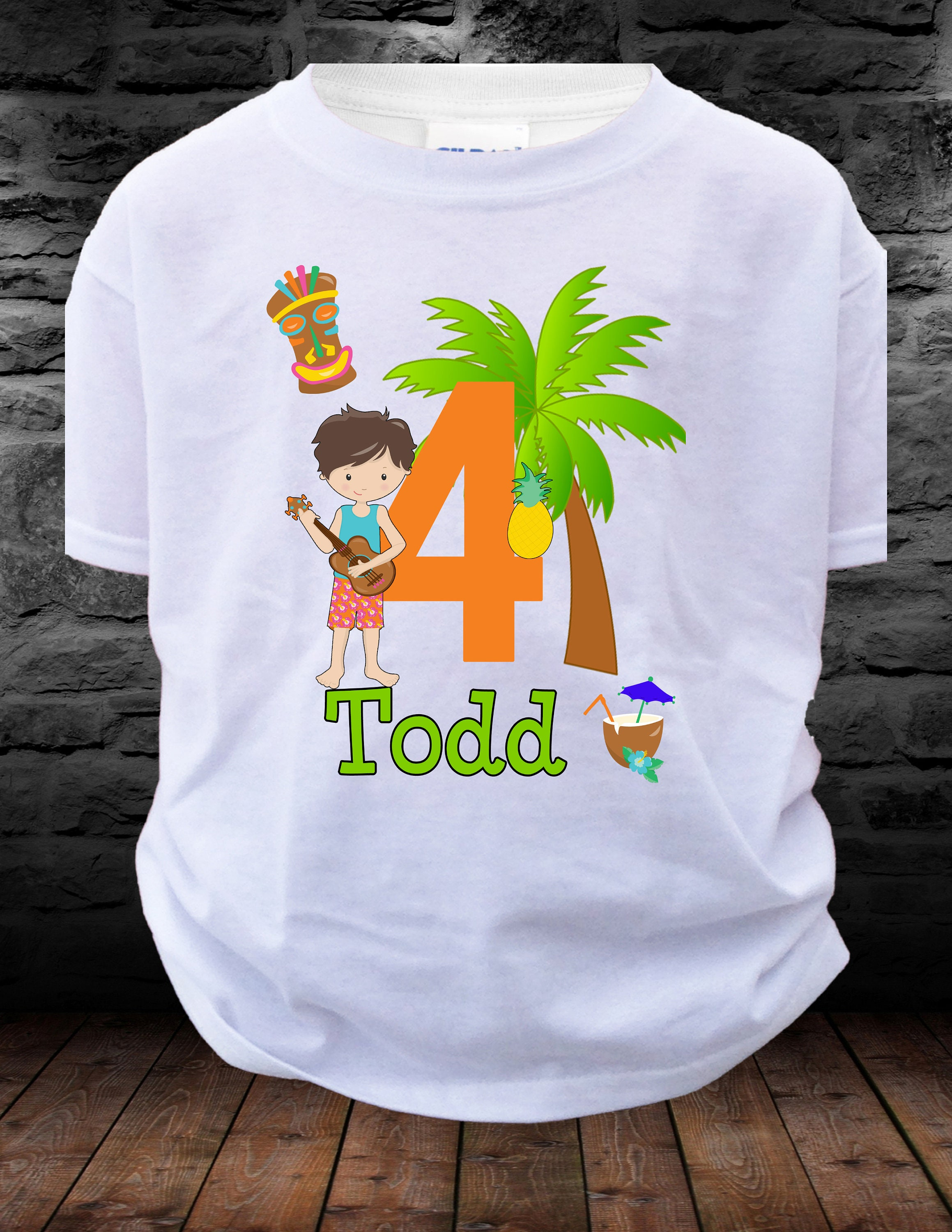 Boy Birthday Luau Shirt