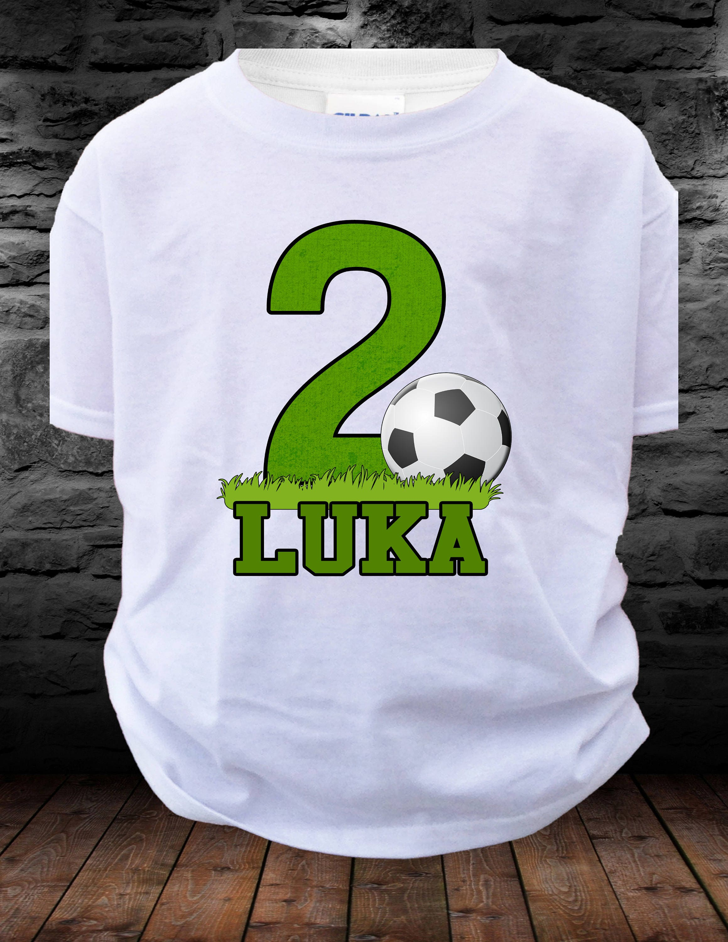 Big Number SOCCER Birthday Shirt Boy Or Girl T Soccer Personalized With Age Name 123456789