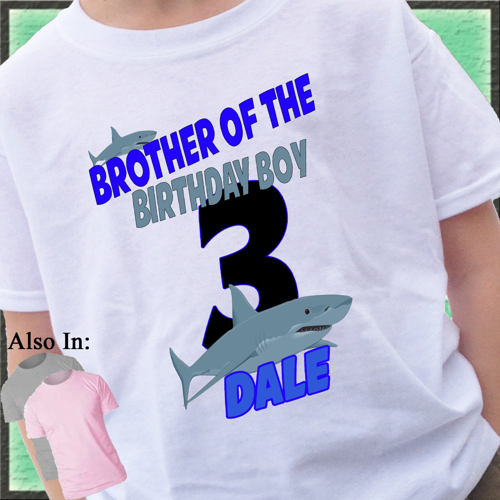 Birthday Boy Sister Cousin Party Shirt Gallery Photo