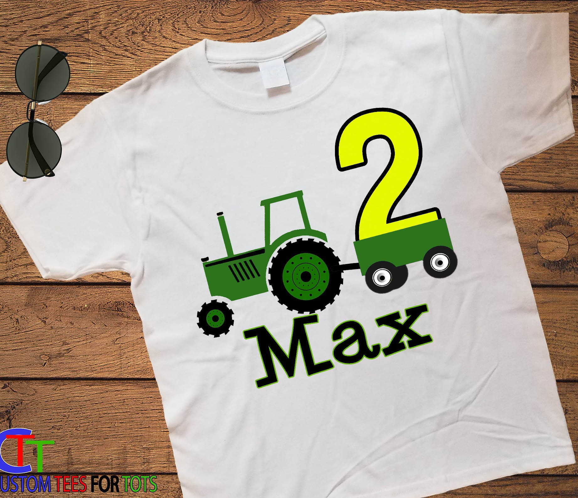 1c0583217 Girl or Boy Tractor birthday shirt - personalized Tractor birthday shirt ...