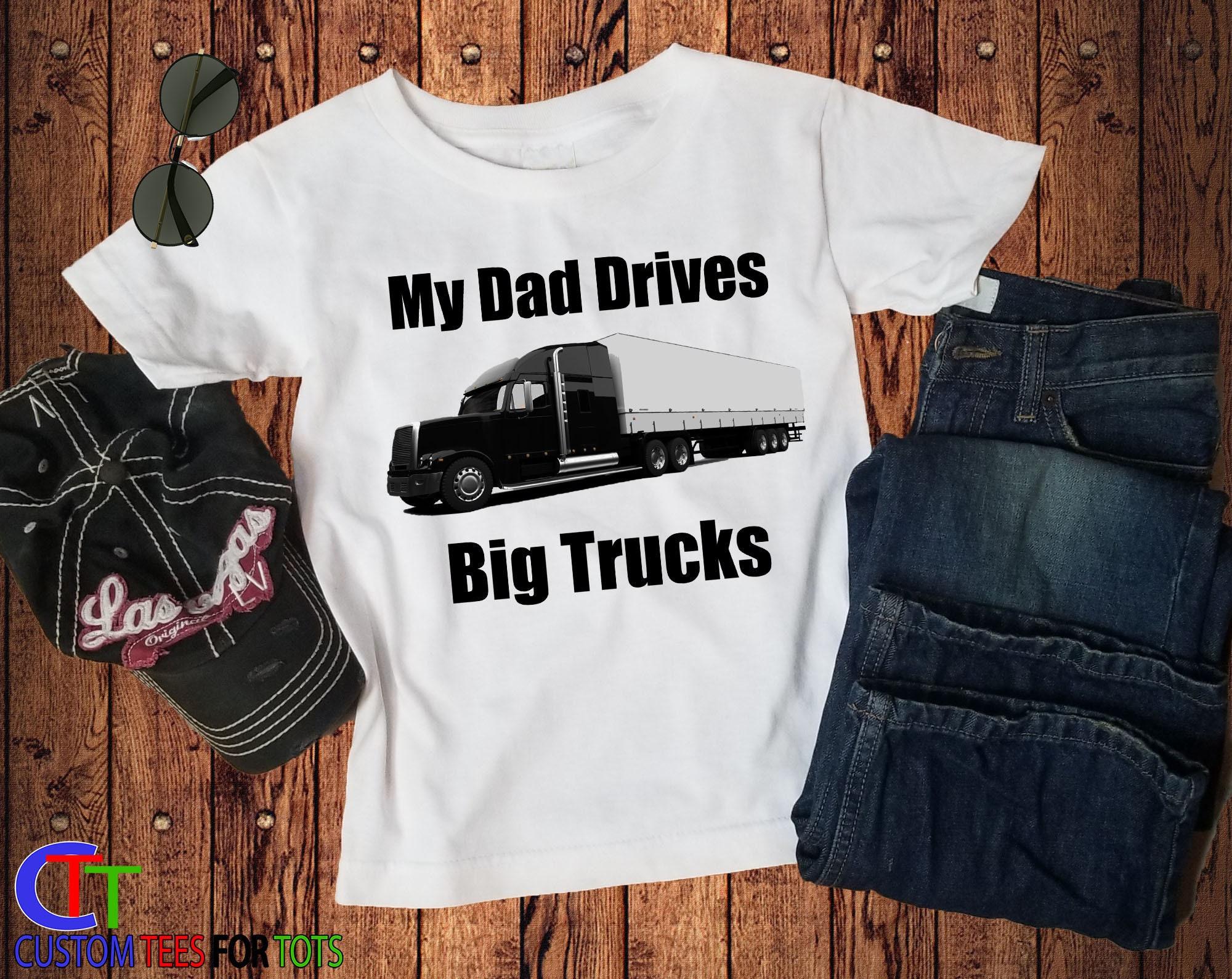 89a62590 ... Semi driver shirt - kids trucker shirt - i love my dad. gallery photo  gallery photo