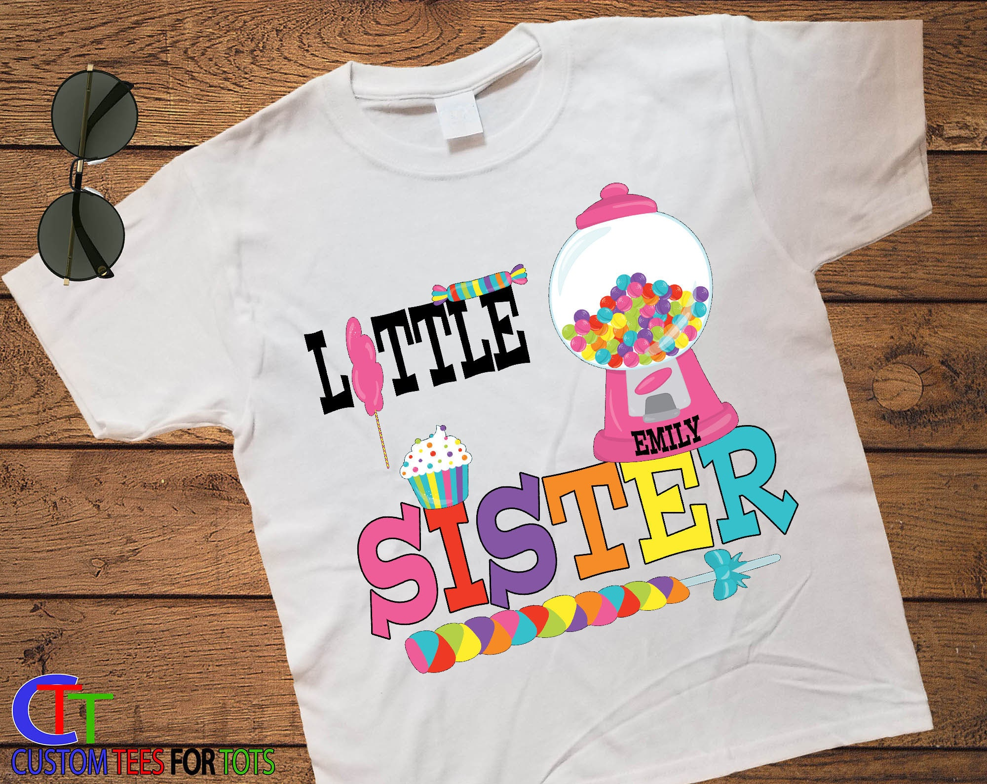 180b4350 Little Sister Candy Shirt - Candyland Personalized Shirt - Little Sis ...
