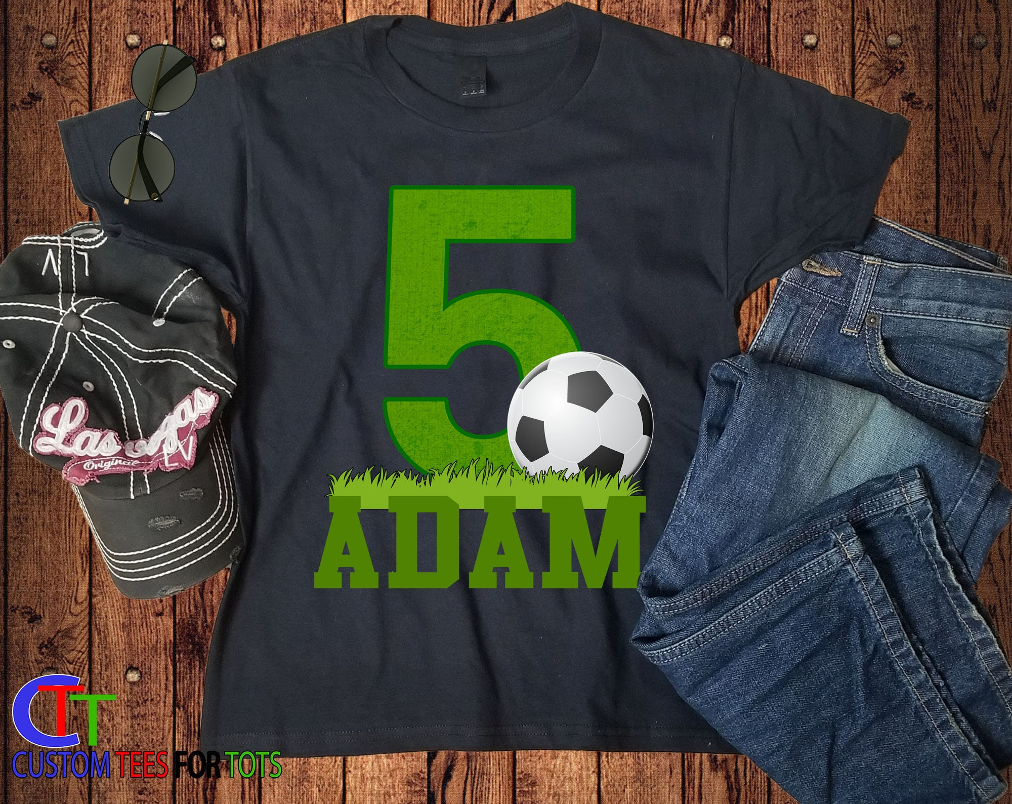 Big Number SOCCER Birthday Shirt