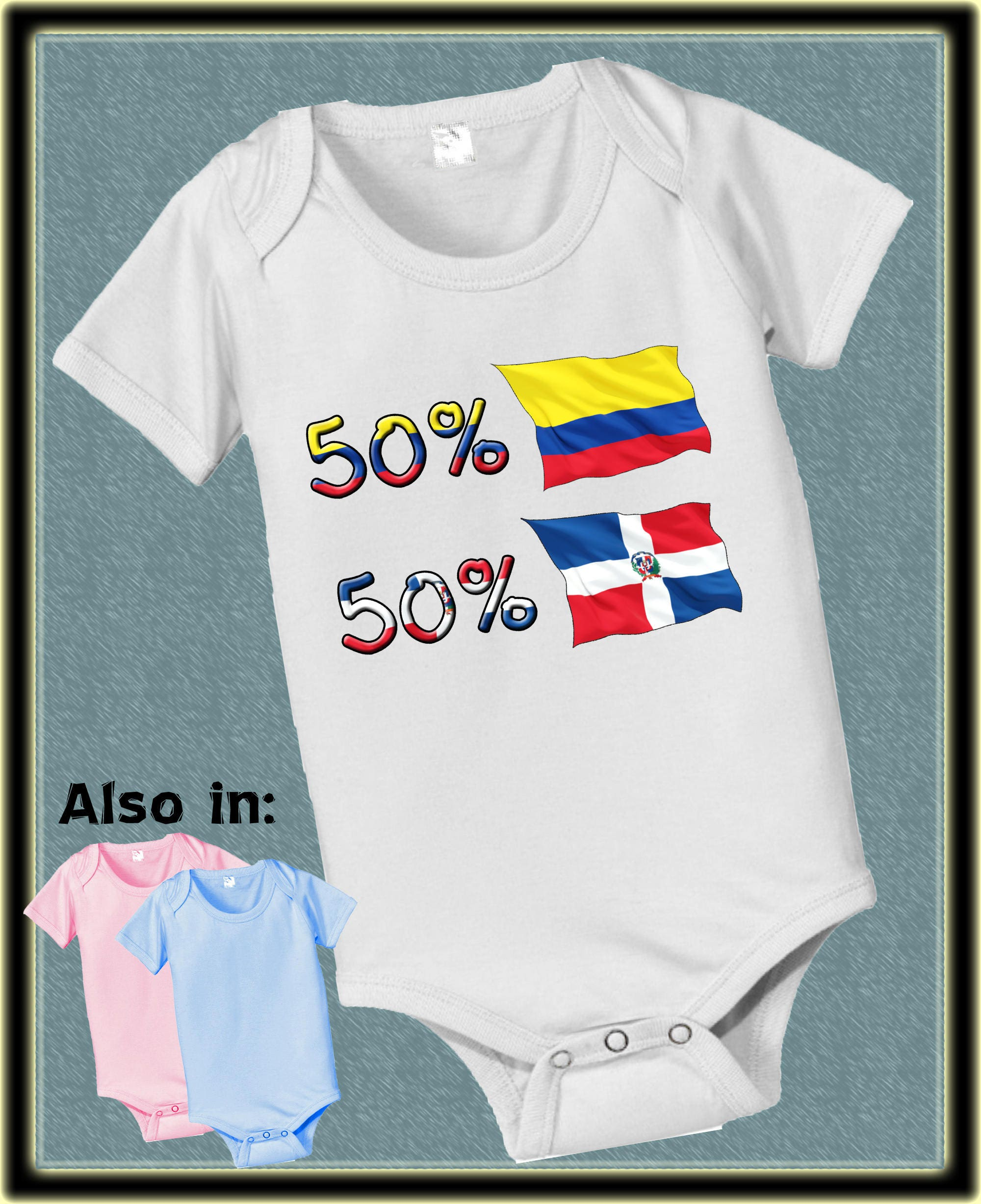 Short Sleeve And Long Sleeve 50 Dominican 50 Colombia Baby Infant