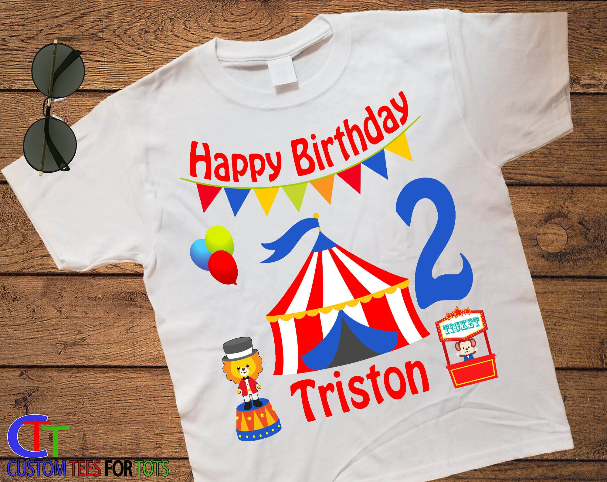 Boy Or Girl Circus Birthday Shirt