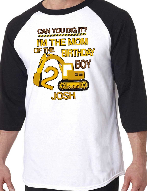 ADULT Dad Mom Aunt Of The Birthday Boy Raglan Shirt