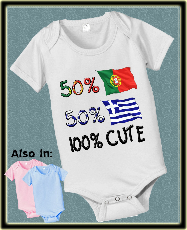 570454360 short sleeve and long sleeve 50 Portuguese 50 Greek 100 cute baby ...
