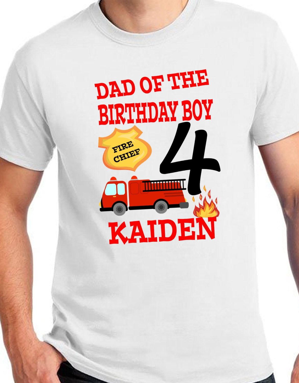 ADULT Firetruck Birthday Shirt