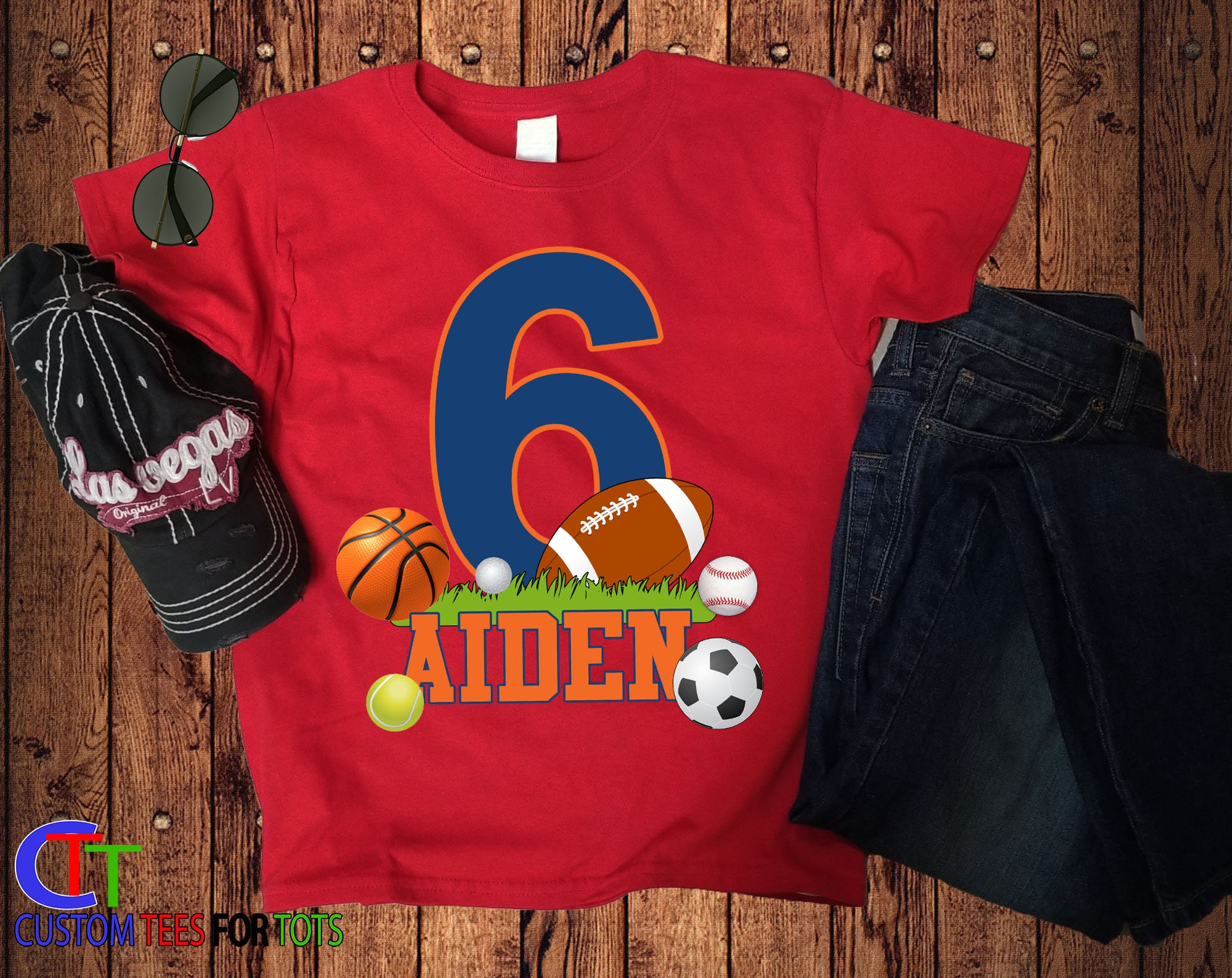 309ed3f8d Boy or Girl FOOTBALL Birthday shirt - Sports Birthday Shirt - personalized  Sports Birthday Shirt 1