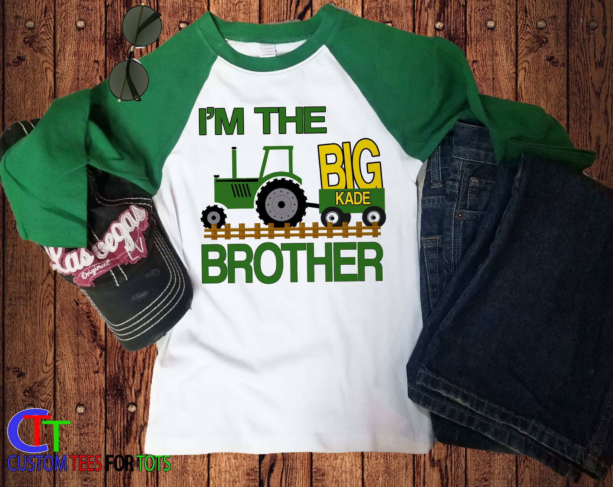 Tractor Big Brother Shirt - I'm The Big BROTHER Baseball