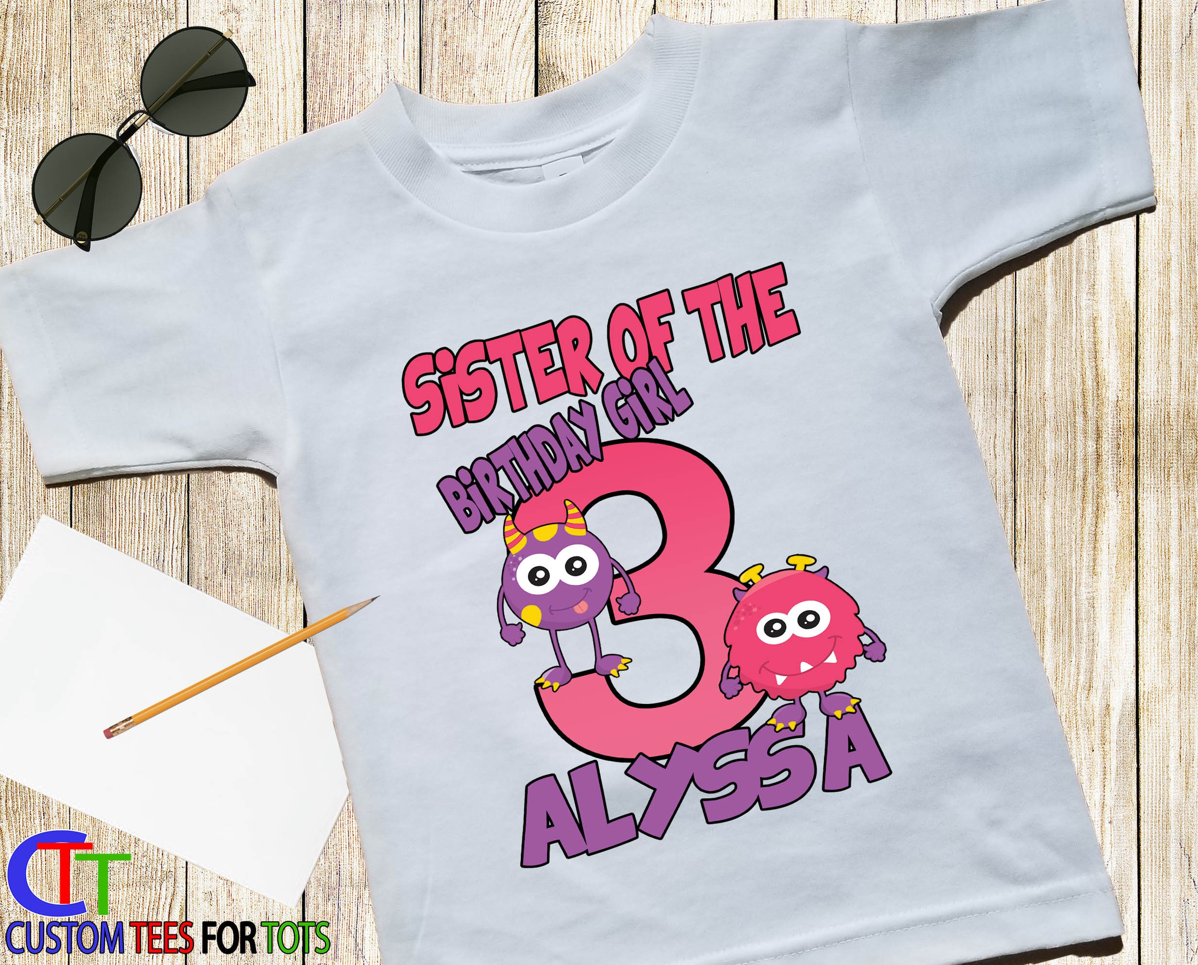 Little Girl Personalized Birthday Shirts