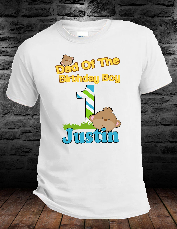 Dad Of The Birthday Boy Monkey Animals Shirt