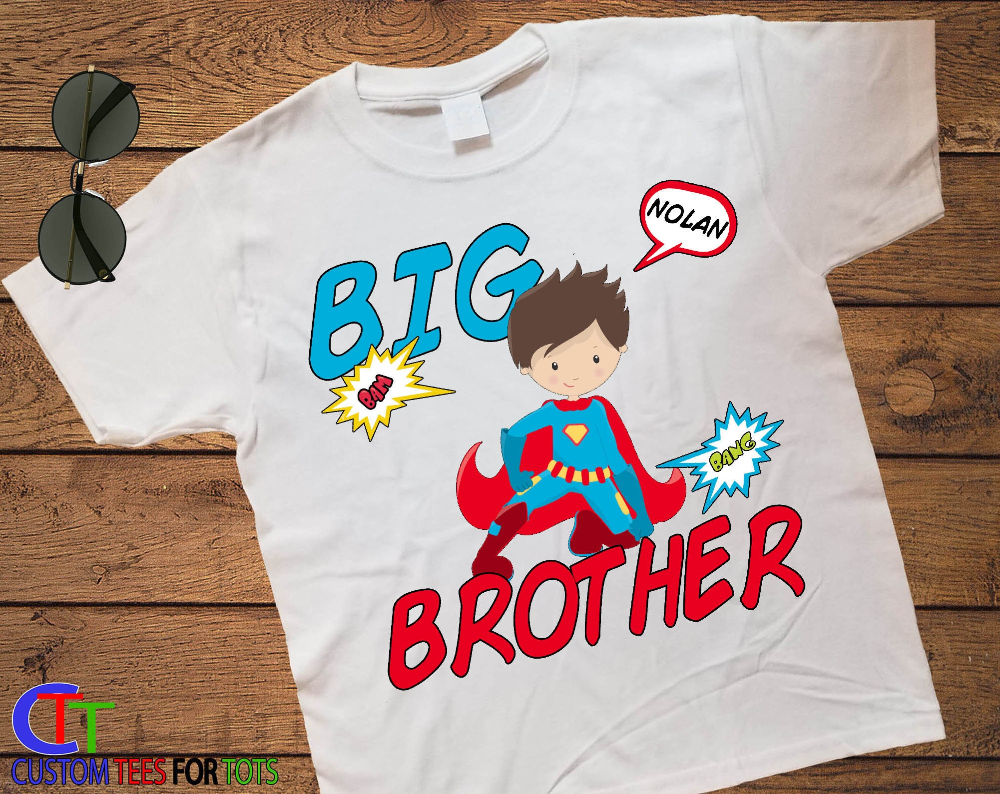 eecc846a ... Superhero Big Brother Shirt - Big Little Brother Announcement Shirt.  gallery photo gallery photo