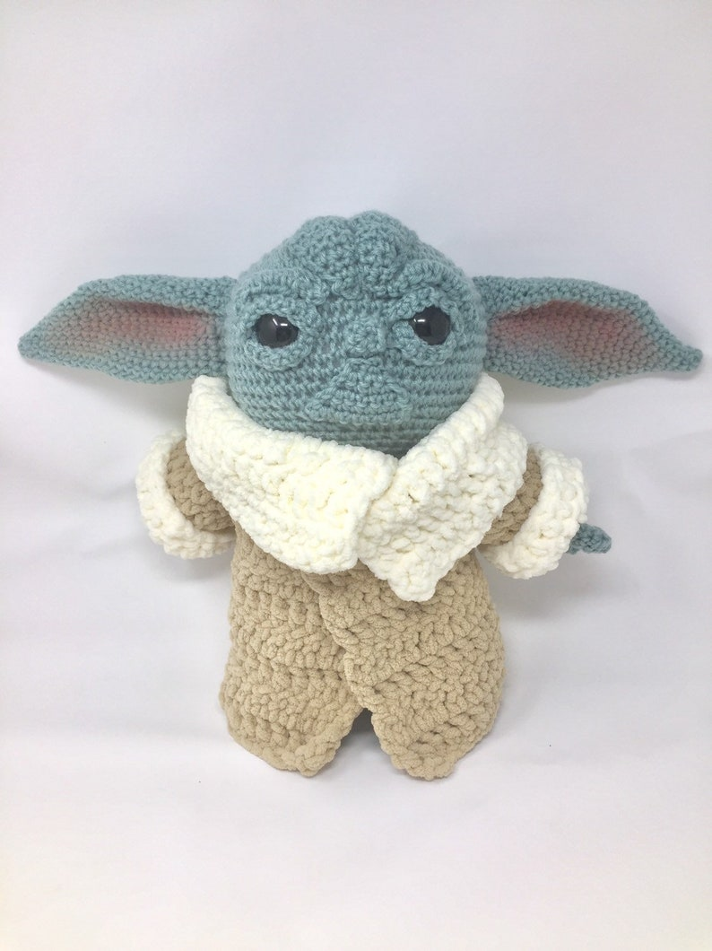 The Child Mandalorian Baby Yoda Handmade Crochet Soft Toy USA image 0